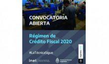 Régimen de Crédito Fiscal – Convocatoria 2020