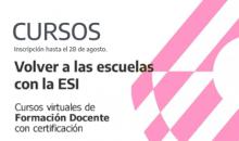 Cursos de ESI Nación 2020