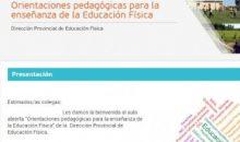"""Espacio virtual """"Orientaciones pedagógicas para la enseñanza de la Educación Física"""""""